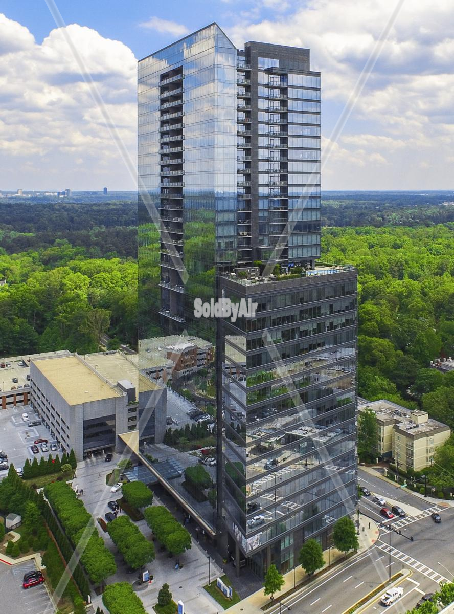 Drone Photo of The Ritz-Carlton, Atlanta, Atlanta, GA, United Sta in Atlanta Georgia