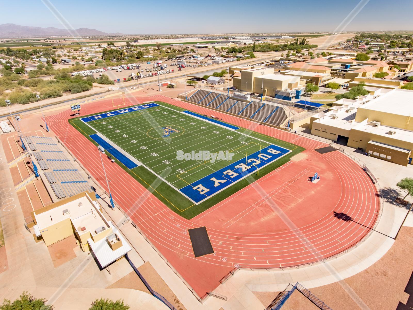 Drone Photo of Washington High School Football in Phoenix Arizona