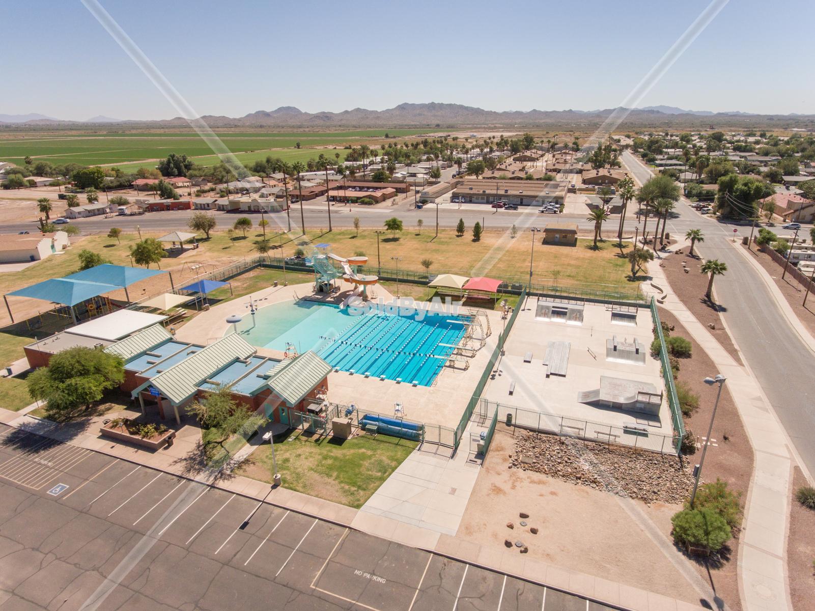 Drone Photo of Washington Park in Phoenix Arizona