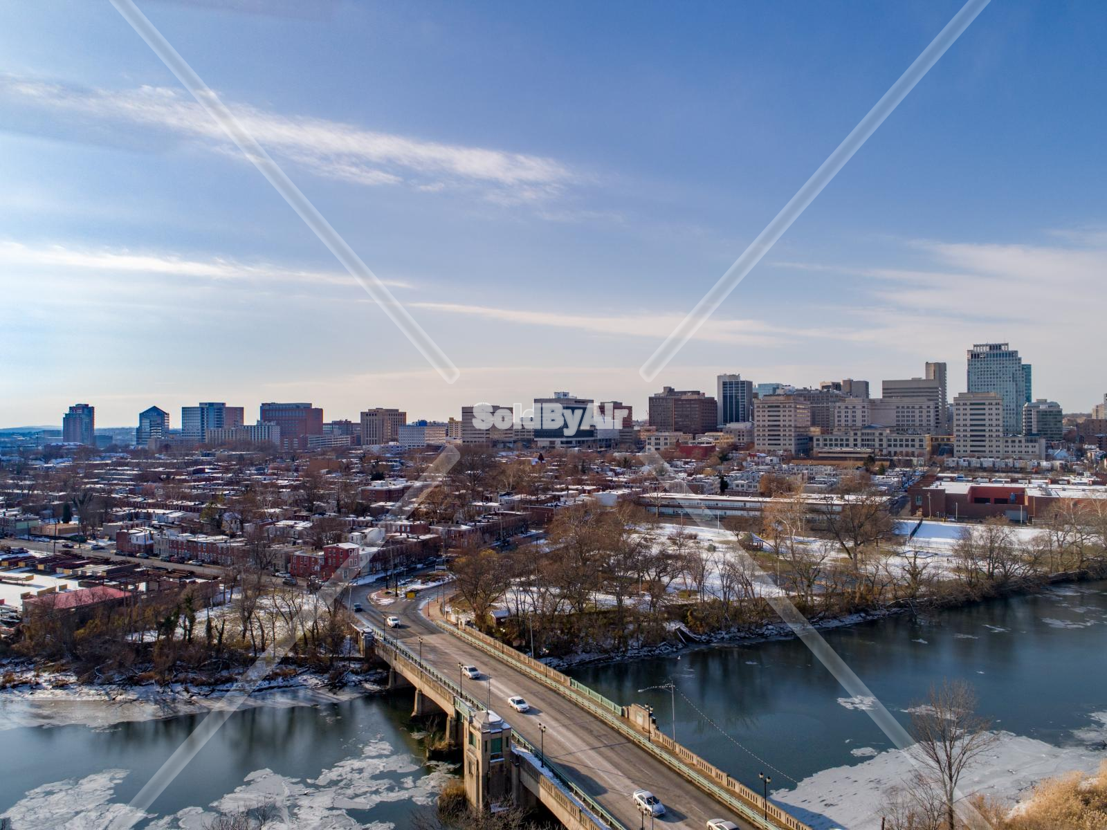 Drone Photo of Wilmington Skyline in Wilmington Delaware