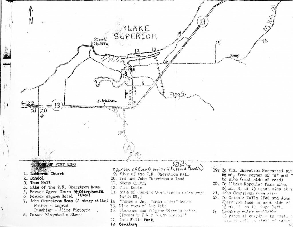 Early map of Port Wing