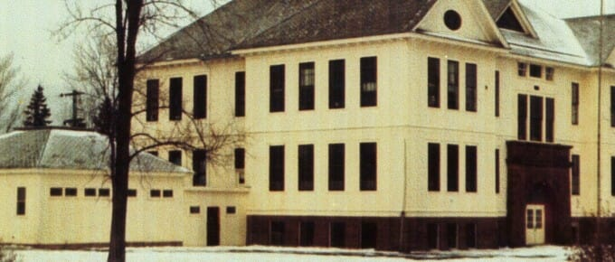 Port Wing Consolidated School in color
