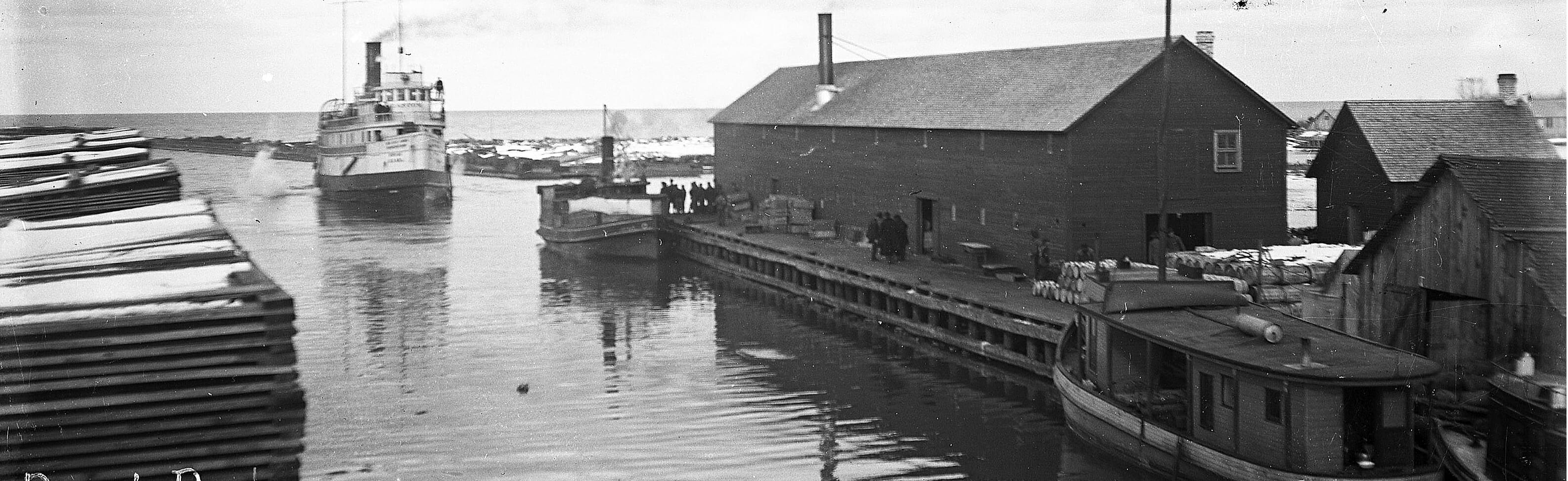 Booth Fisheries Buildings at Port Wing Harbor