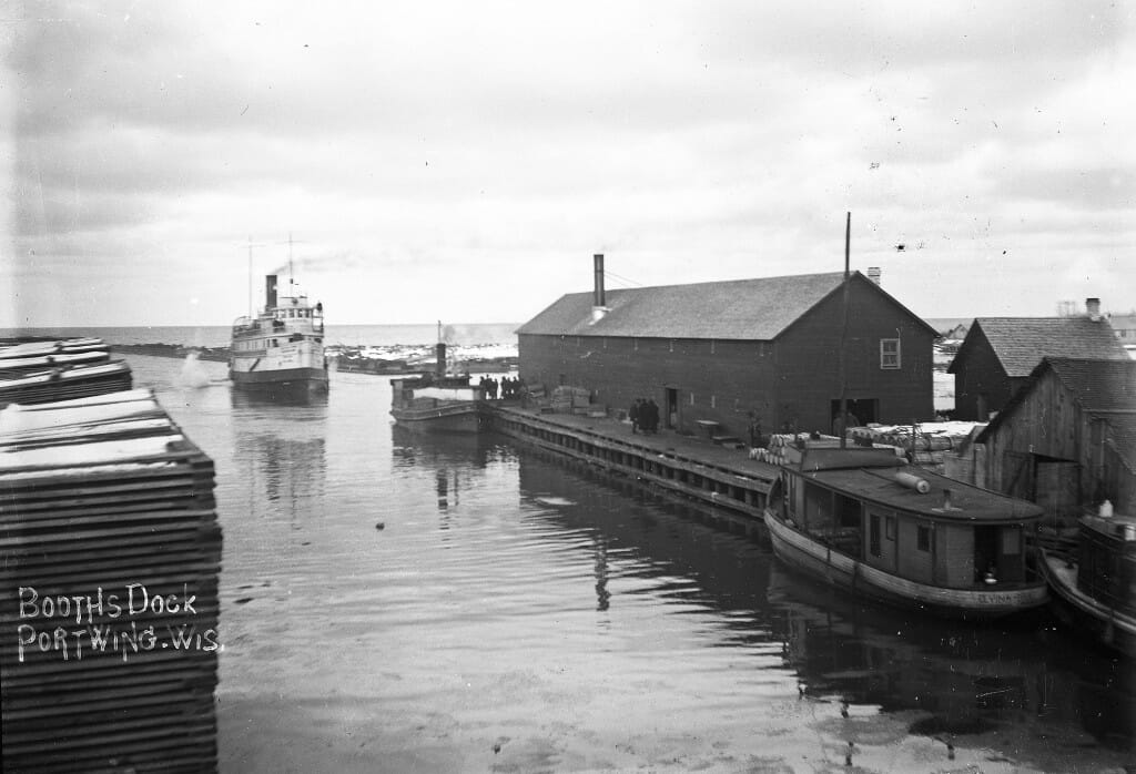 Booth Fisheries Dock in Port Wing Harbor