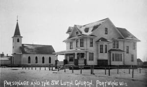 FIrst Lutheran Church and parsonage