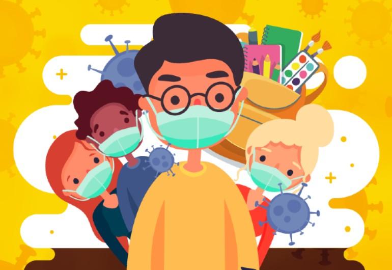 Ilustração do post Boletim 21/03/2020 | Podcast Papo de Educador: A Escola contra o coronavírus