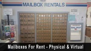 Mailbox rentals - Physical and Virtual