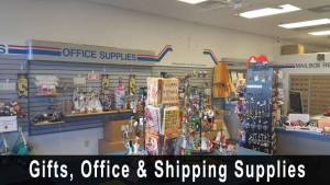 Shipping supplies, cards and gifts