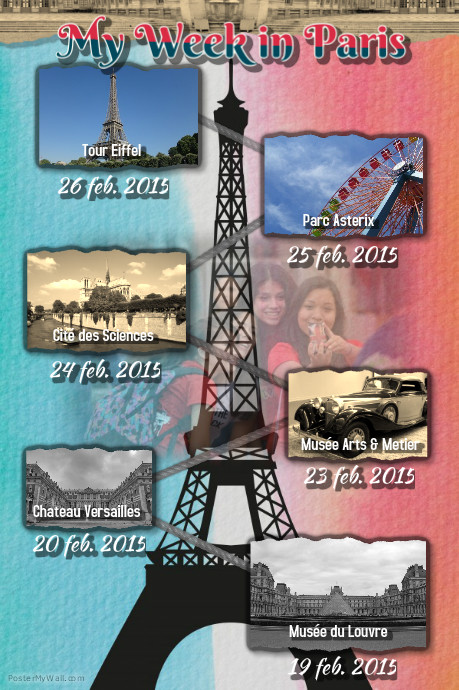 Poster carnet de voyage paris for Carnet de voyage paris