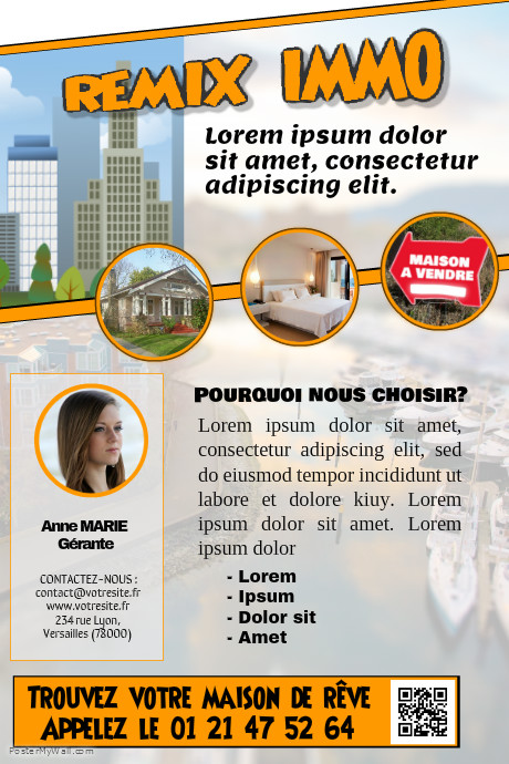 Modèle de flyer immobilier – Chic design