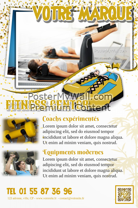 Brochure publicitaire club de fitness