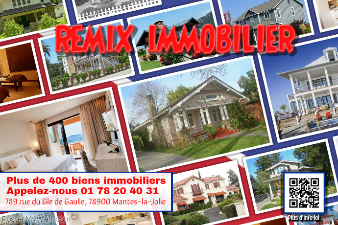 Prospectus immobilier  en photocollage