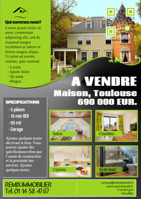 Flyer immobilièr élegant – Version vert