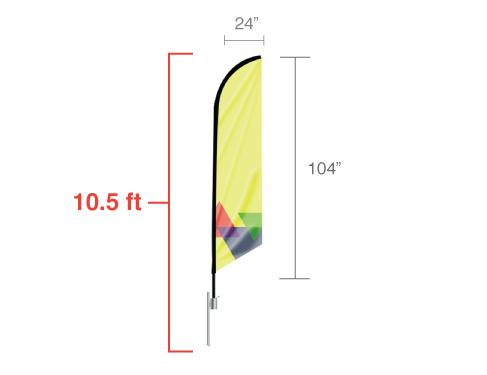 Feather Angled Flag (Medium)