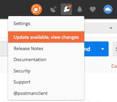settings update indicator