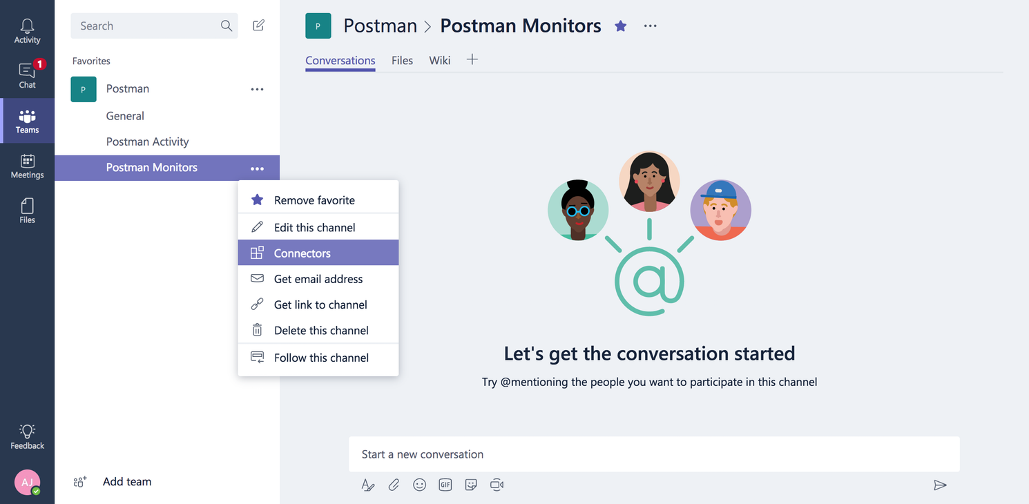 Microsoft Teams | Postman Learning Center