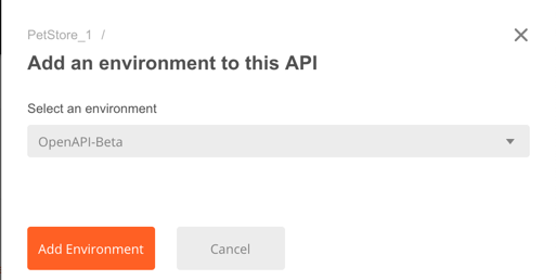 api add env