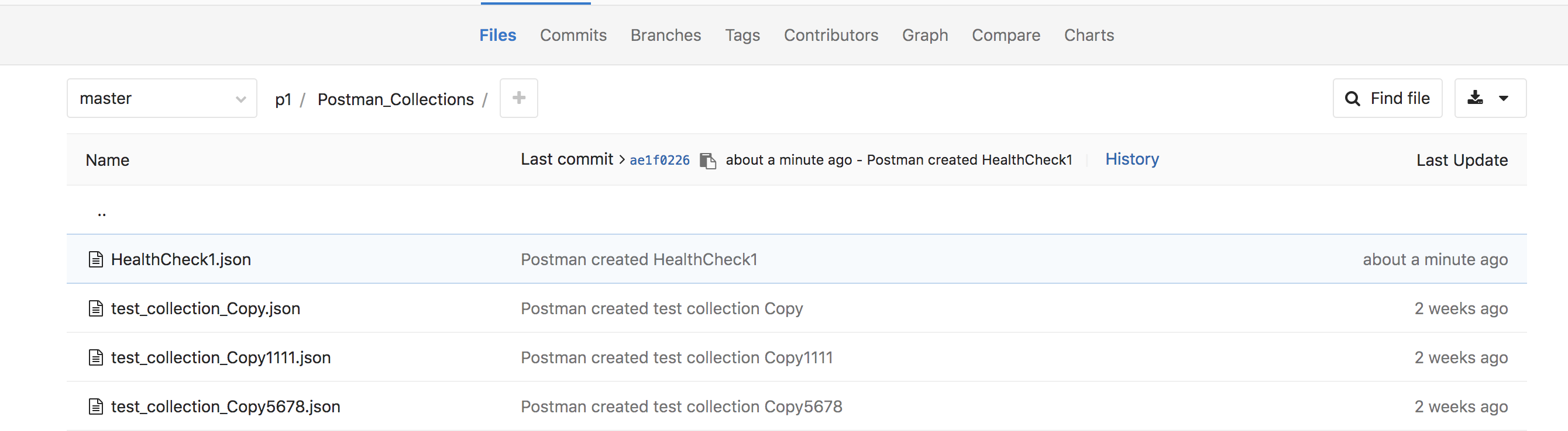 file in Gitlab project