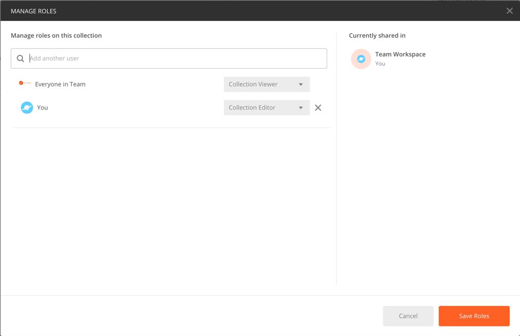 modify team permissions modal