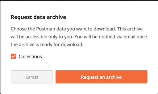 request data archive