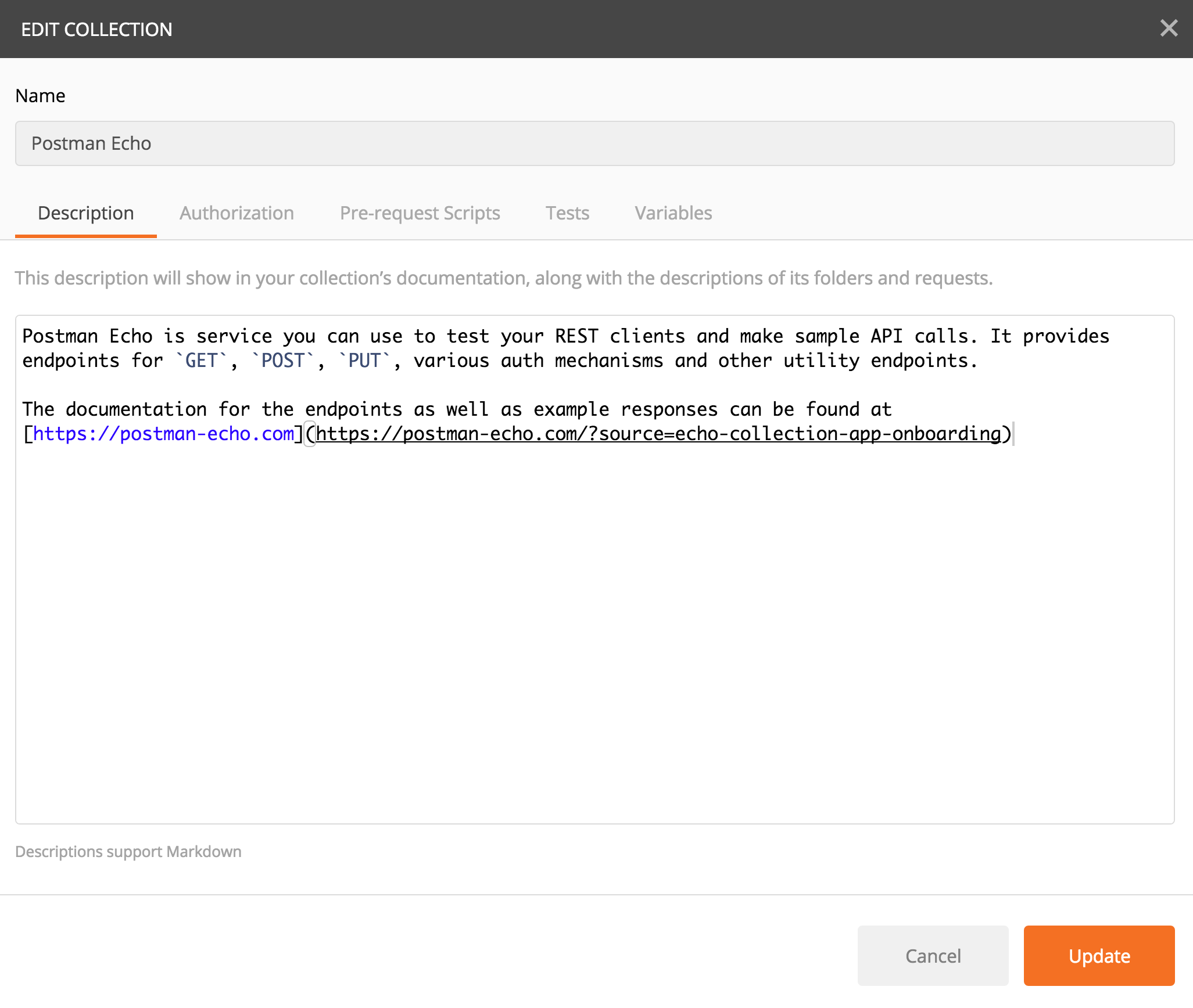 How to document using Markdown | Postman Learning Center