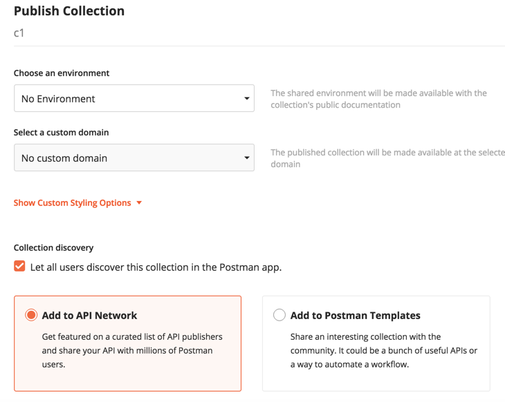 api network checkbox
