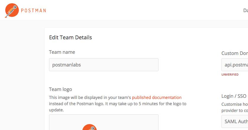 edit team details page