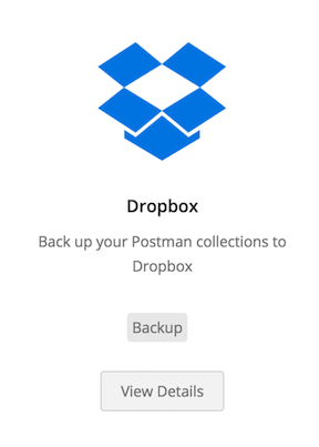 select dropbox integration
