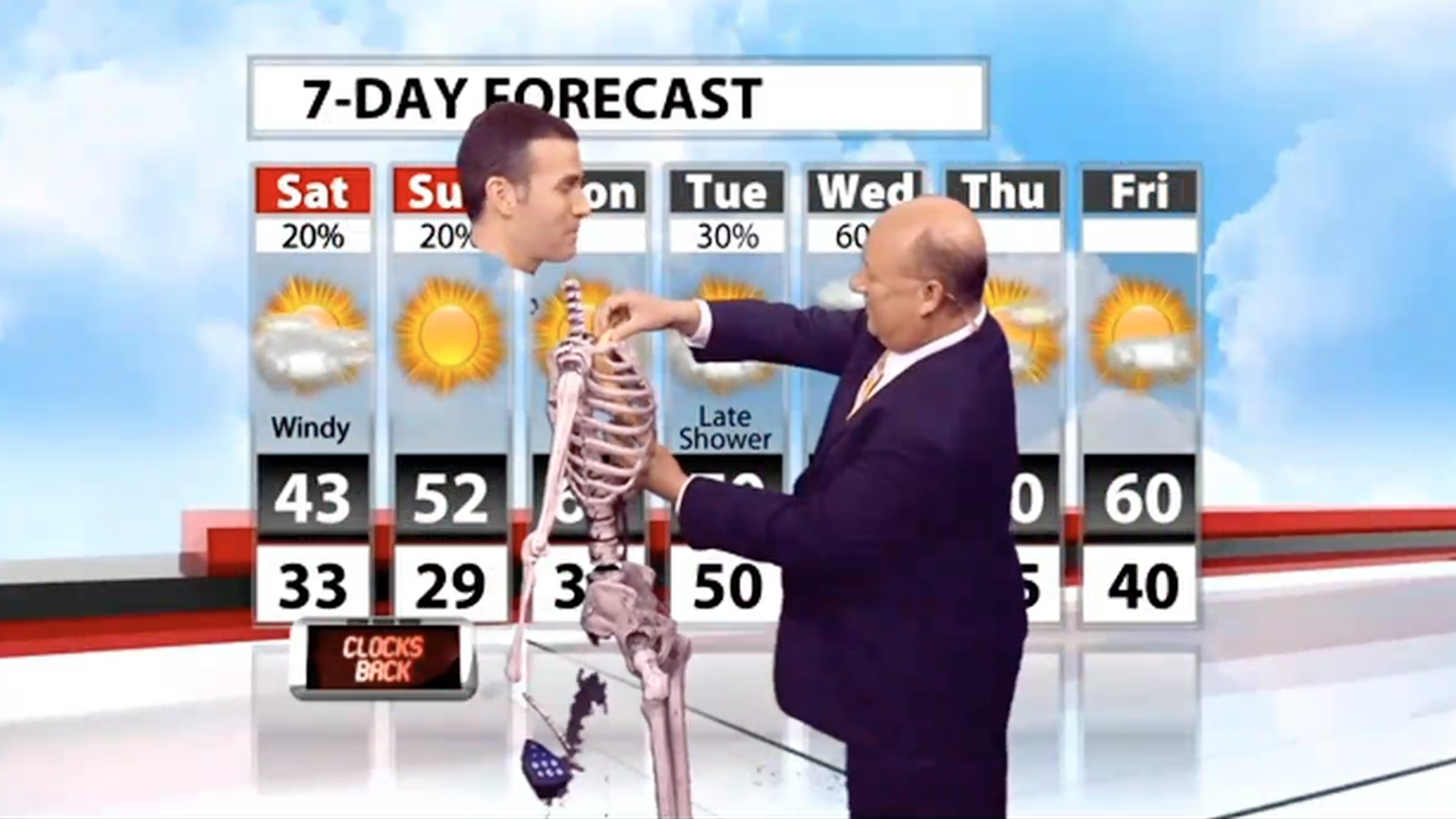 meteorologist uses a green screen and skeleton costume to deliver a halloween forecast the washington post - Meteorologist Halloween Costume