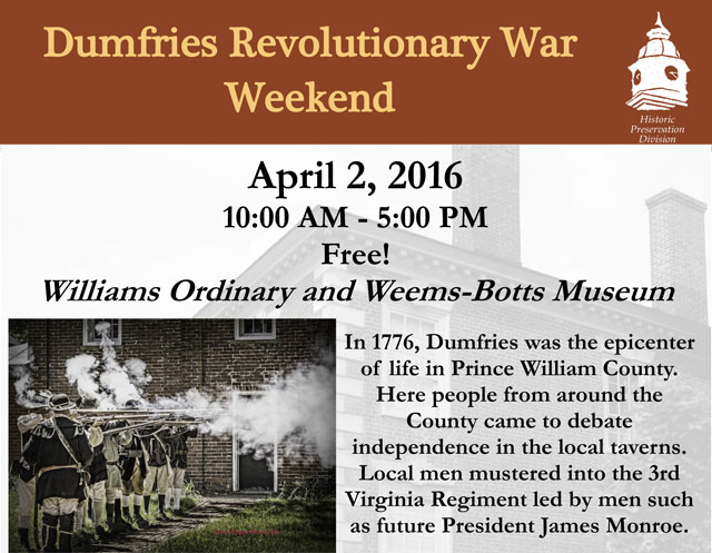 Dumfries Revolutionary War Weekend, Tavern Night 1776