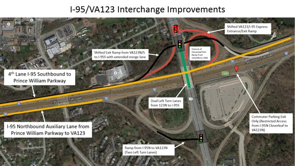 Traffic Map 95.Traffic At I 95 At Rt 123 At Occoquan Stinks Would This Fix It