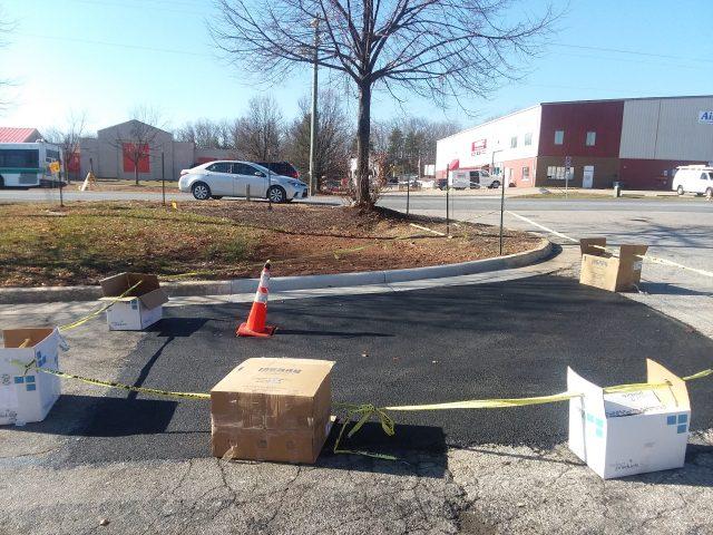 Deep Pothole Plugged Behind Woodbridge Target Value City Furniture