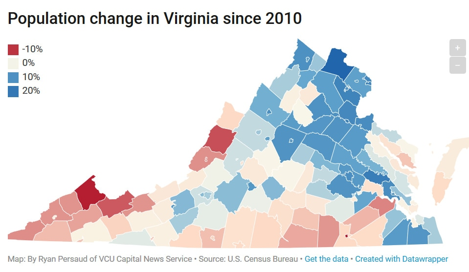 Northern Virginia Population Shows No Signs Of Slowing