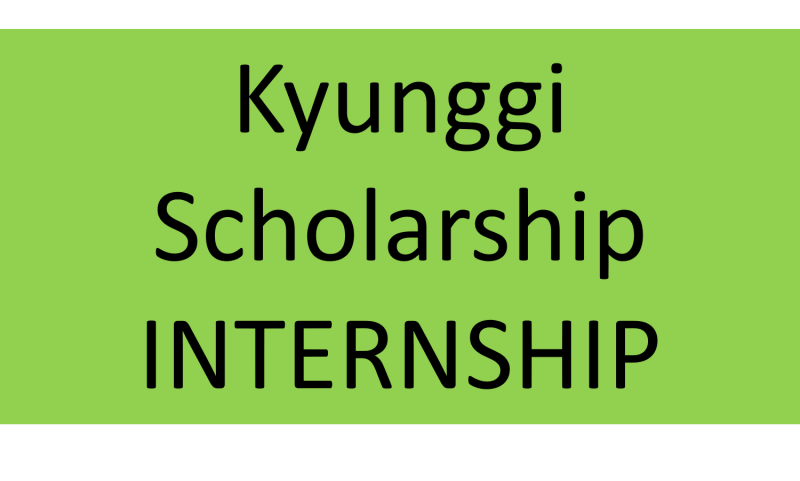 Kyunggi Scholarship Internship [EXPIRED]