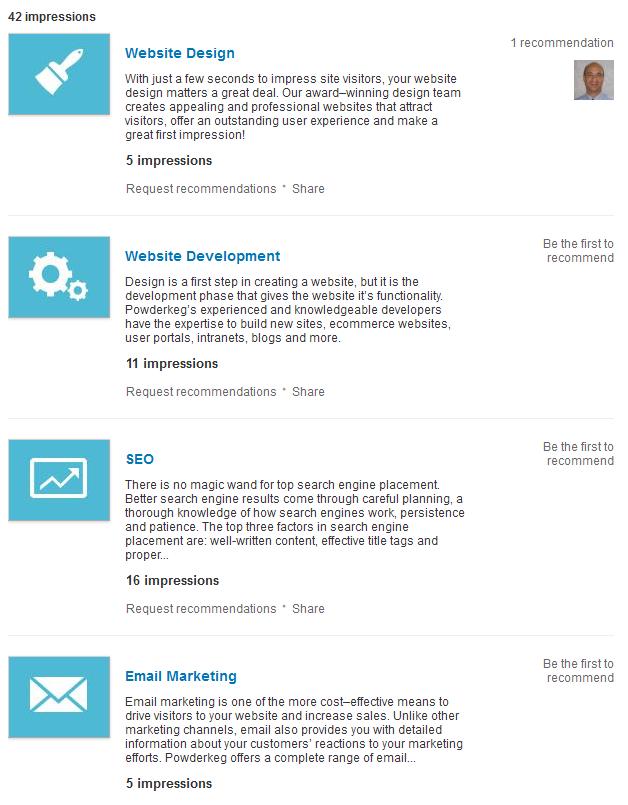 linkedin services
