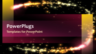 Powerpoint template abstract template design with sparkling lights powerpoint template print slide toneelgroepblik Gallery