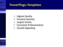PowerPoint Template - Print Slide