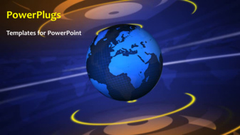 powerpoint template a moving globe with bluish background