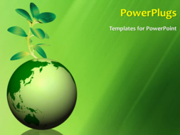 Powerpoint template global environment with a globe and a green powerpoint template print slide toneelgroepblik Choice Image