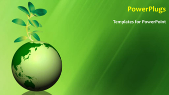 Powerpoint template global environment with a globe and a green ppt template title slide toneelgroepblik Images