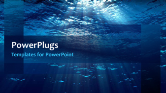 powerpoint template a sea in the background with a bullet point
