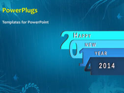 Powerpoint template beautiful animation depicting new year 2014 on powerpoint template print slide toneelgroepblik