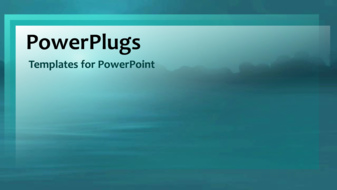 PowerPoint Template: video of splashing water drop in water on the ...