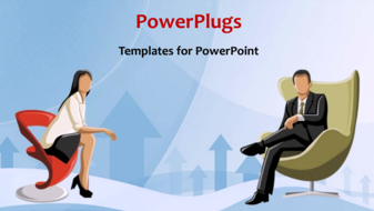 Powerpoint Template Abstract Animated Business Depiction With Two