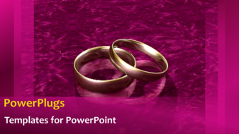 Powerpoint template animated wedding depiction with gold wedding powerpoint template print slide toneelgroepblik Gallery