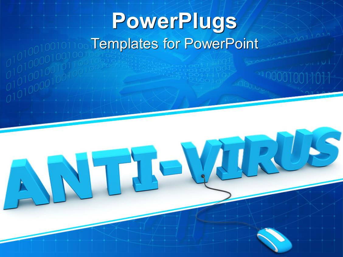 400 virus free powerpoint templates w virus free themed backgrounds audience pleasing ppt theme featuring 3d anti virus word with mouse connected to v letter toneelgroepblik Gallery
