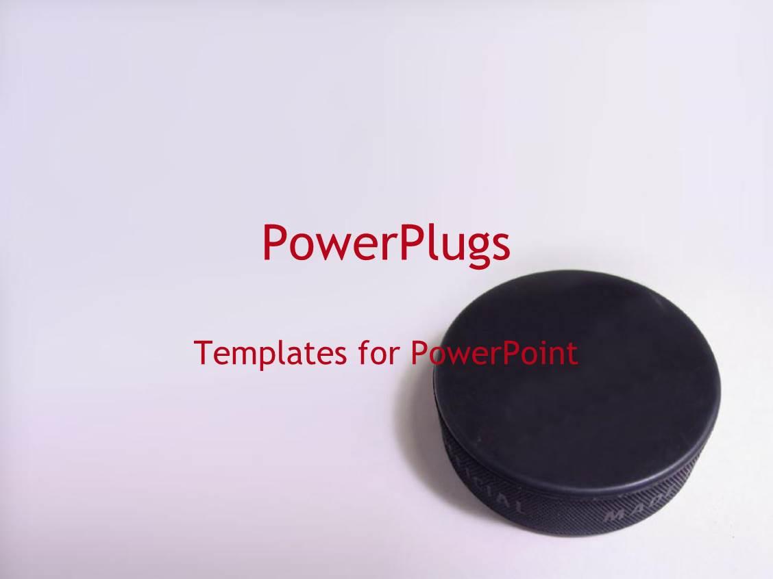 5000 hockey powerpoint templates w hockey themed backgrounds amazing presentation theme consisting of 3d black hockey puck on brightly colored gray background toneelgroepblik Choice Image