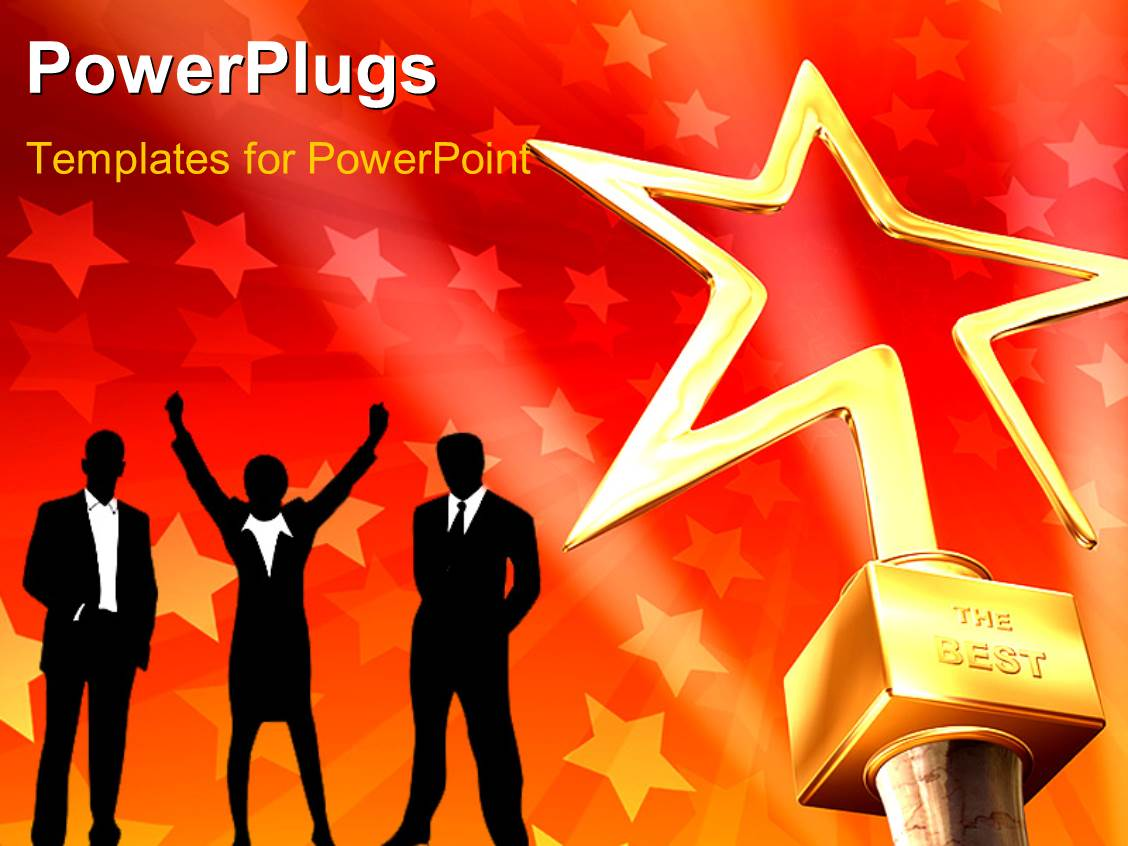 Powerpoint template various speakers and stars along with white amazing presentation theme consisting of 3d gold star award on red stars background with business toneelgroepblik Choice Image