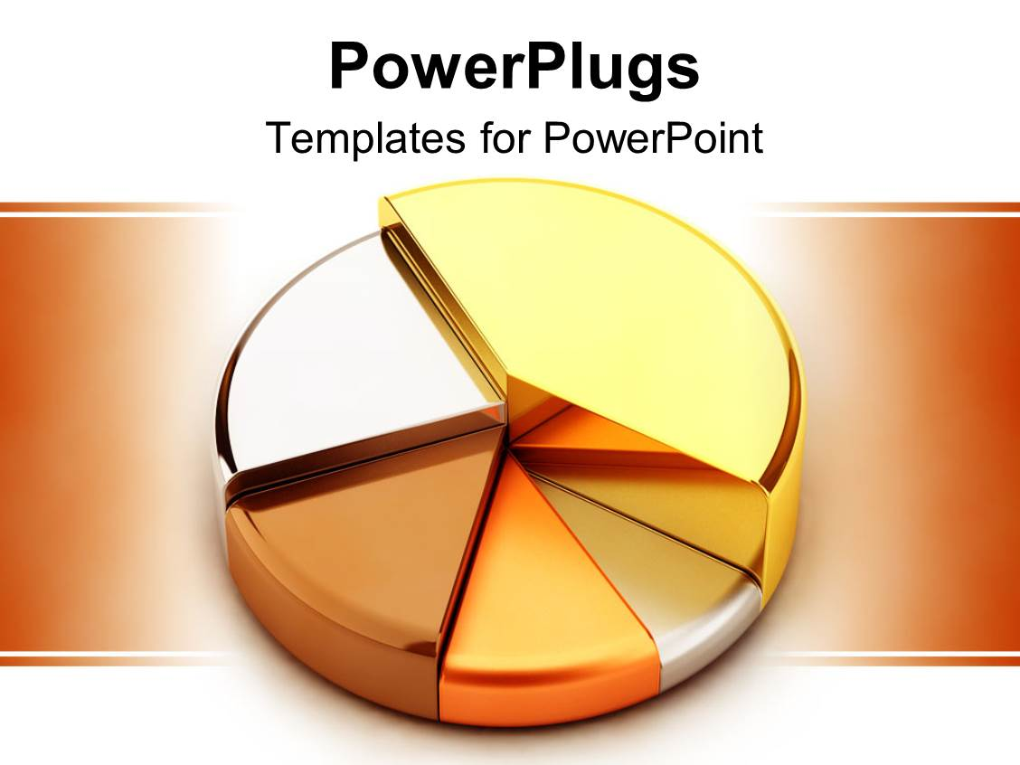 Pie Chart Template Powerpoint Colored Pie Chart With Percentage