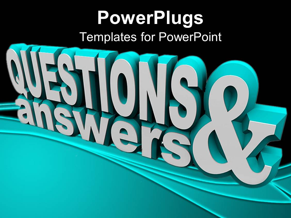 5000 questions answers powerpoint templates w questions answers presentation design consisting of 3d rendering of text questions answer on black surface template size toneelgroepblik Gallery